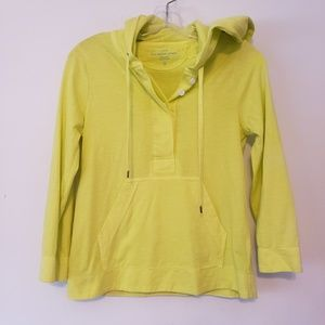 J.Crew Sun Washed Jersey Yellow Hoodie Sweatshirt